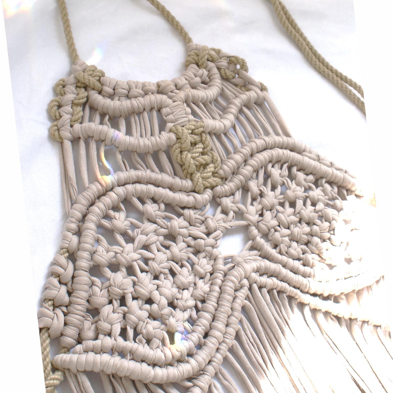 Zakiya Macrame dress by Elisha Francis