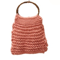 HARLOW | Coral Knitted Market Bag
