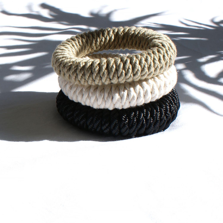 rope bangles by Elisha Francis