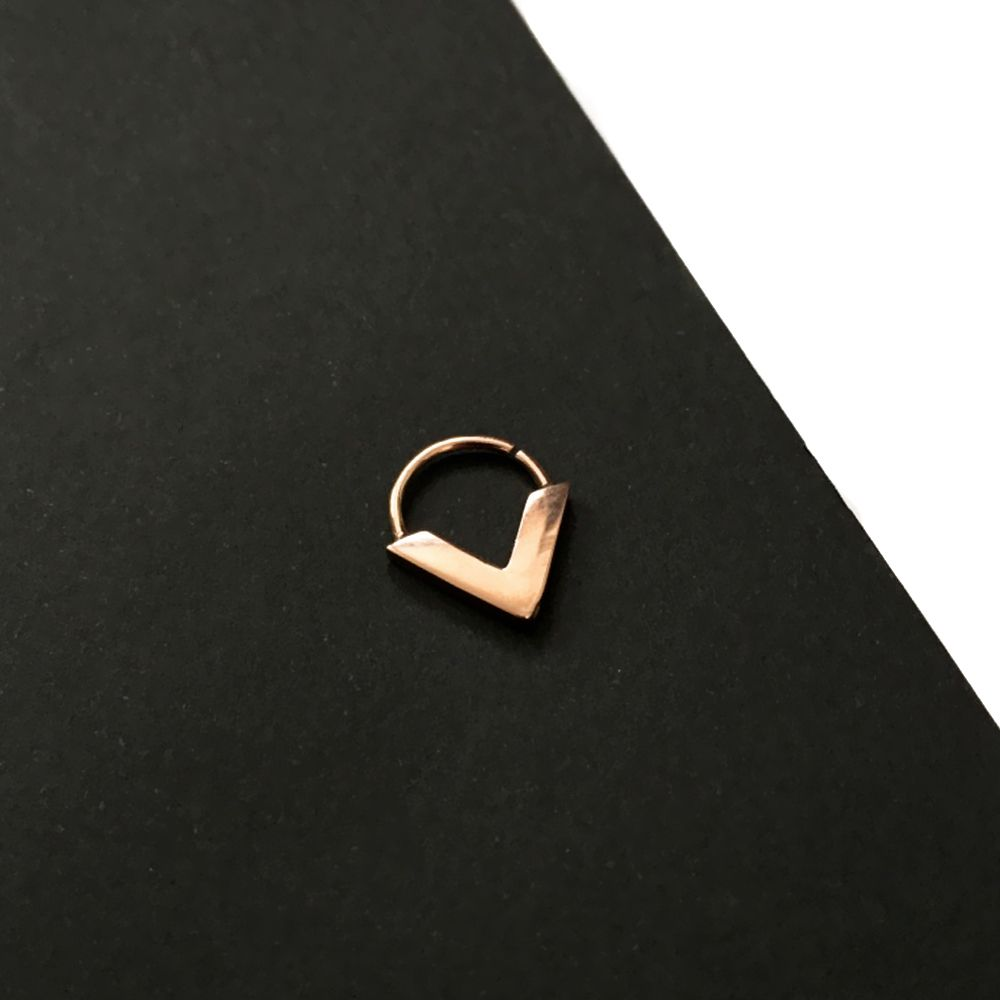 gold septums, rose gold septum, silver septum