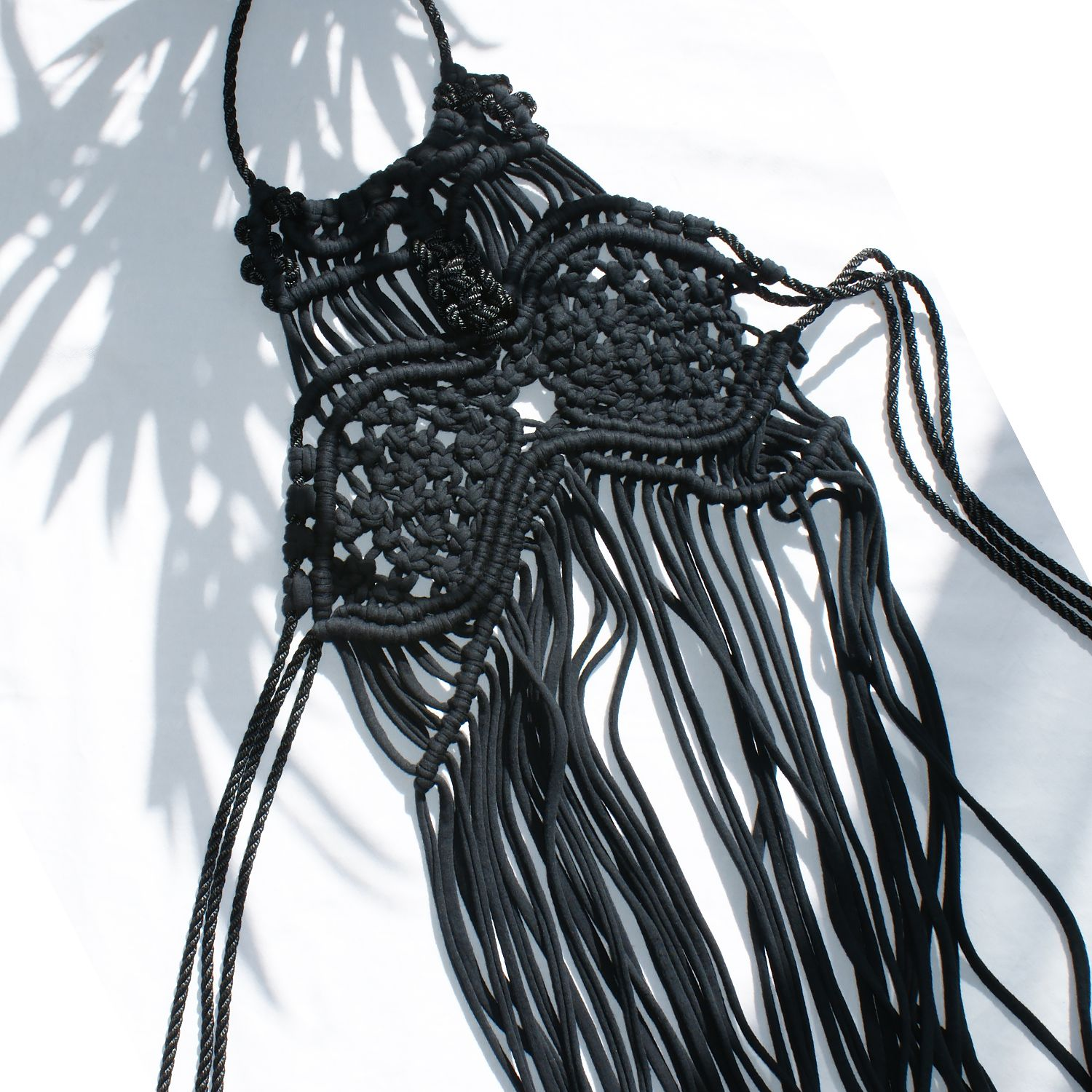 macrame dress, macrame jewellery