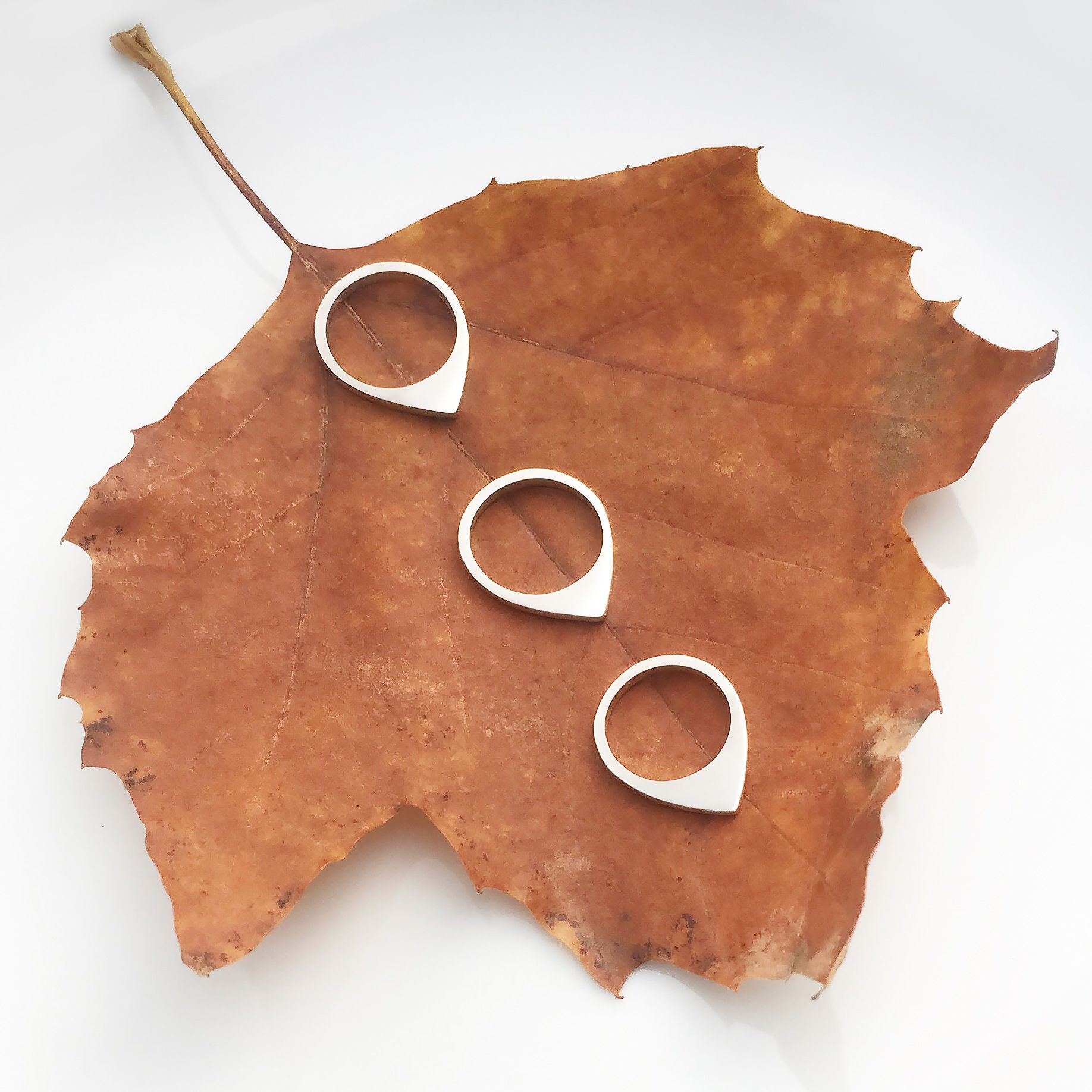 Contemporary silver rings by Elisha Francis