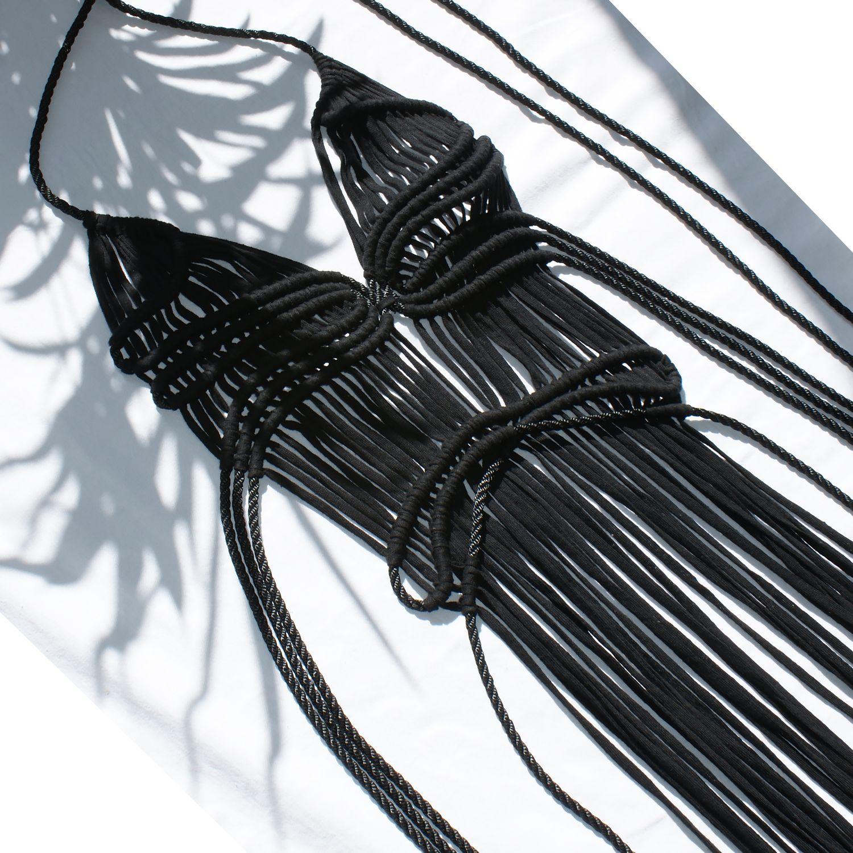 Macrame dress by Elisha Francis