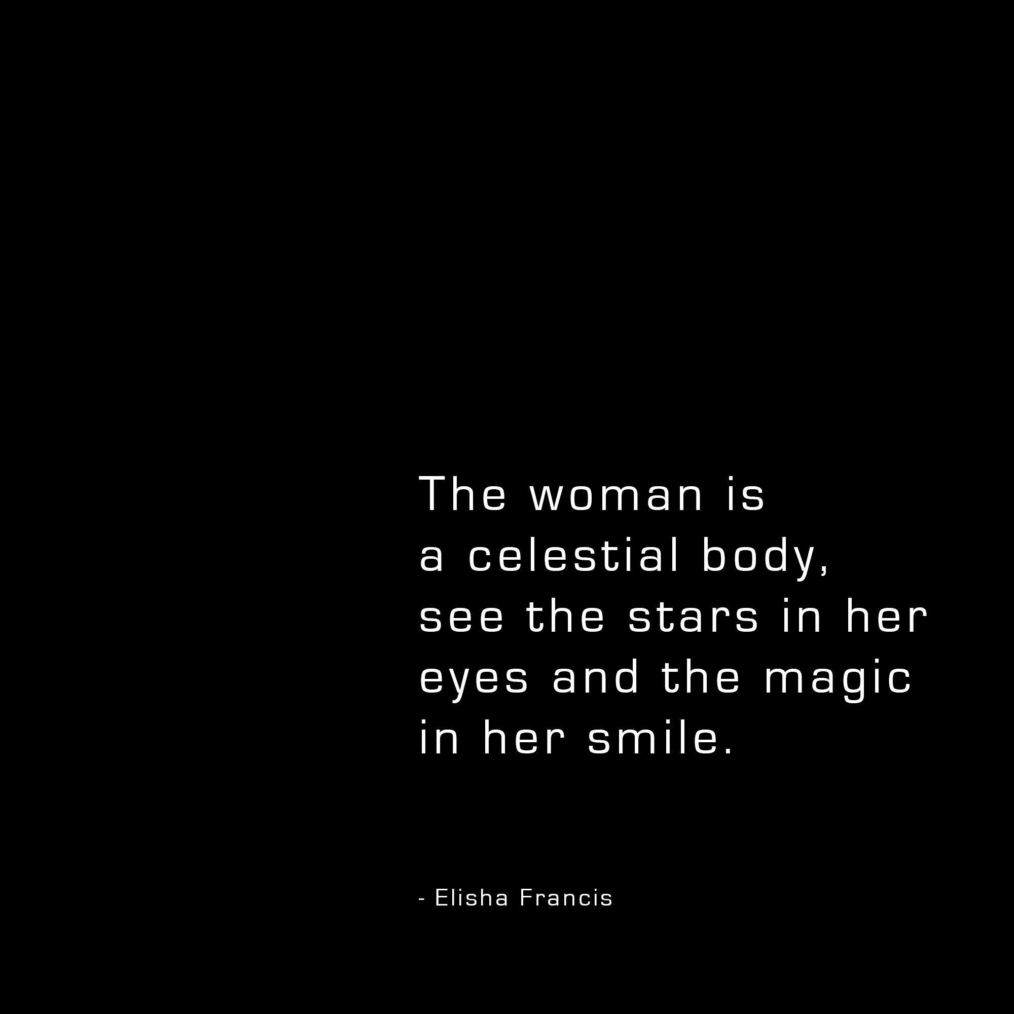 Celestial Woman poem by Elisha Francis