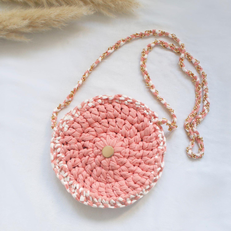 Coral Crochet handmade bag by Elisha Francis