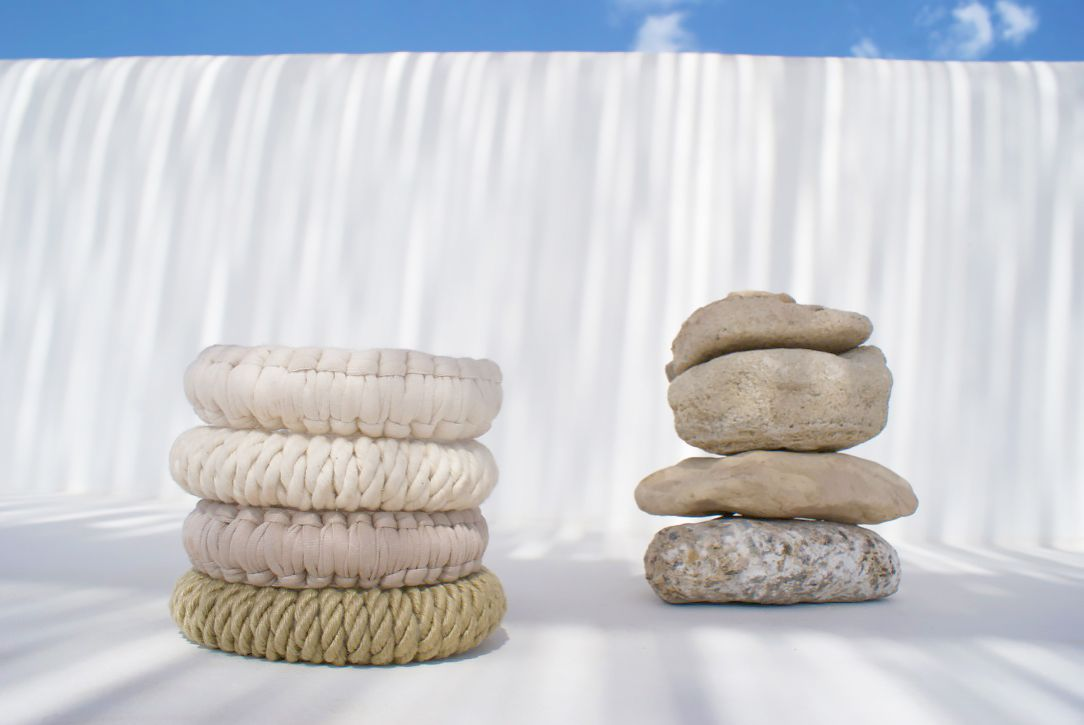 Textile Bangles by Elisha Francis