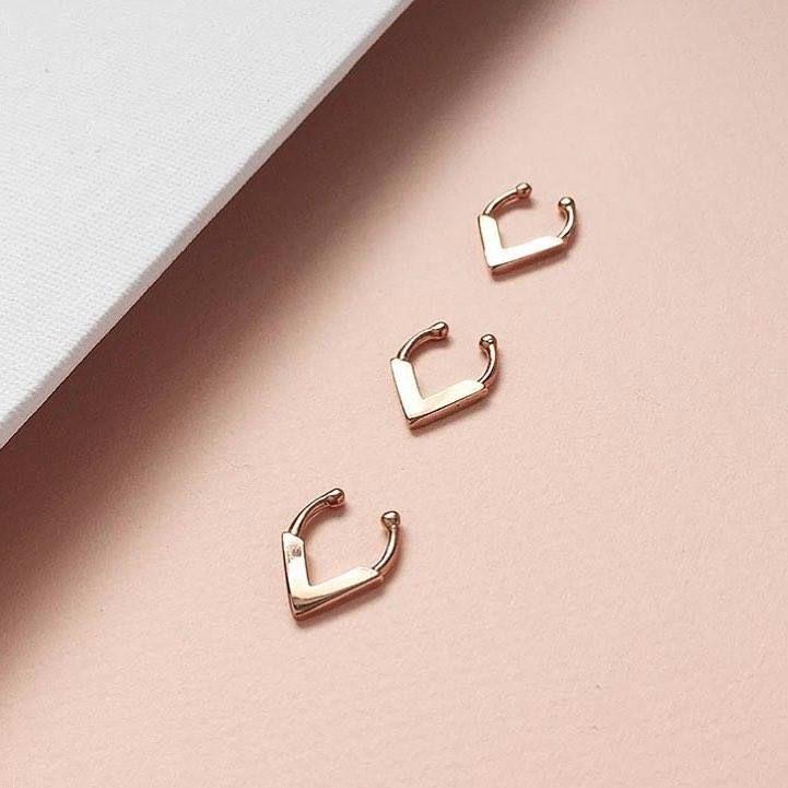MAYA   Rose Gold Faux Septum Ring