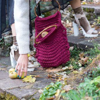 HARLOW | Burgundy Knitted Bag