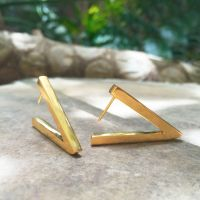 Gold Victory Earrings