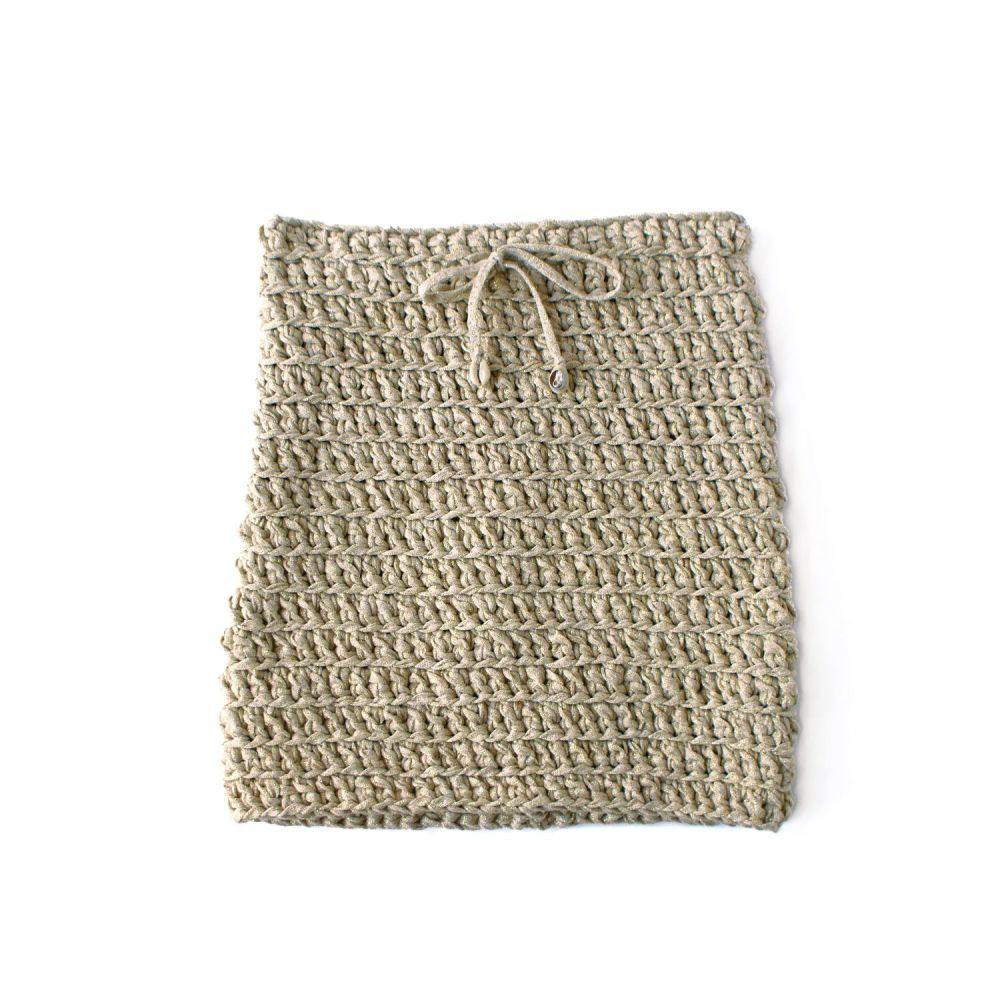 COWRIE   Gold Mini Skirt