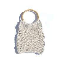 HARLOW | Cream Knitted Market Bag