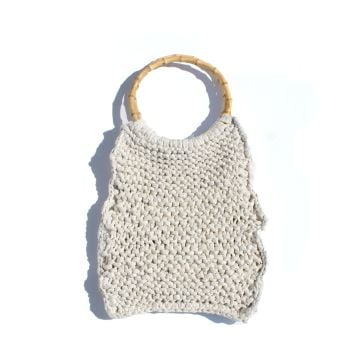 HARLOW | Cream Knitted Bag