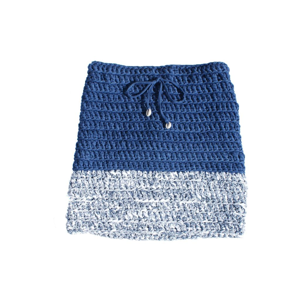 COWRIE | Blue & White Skirt