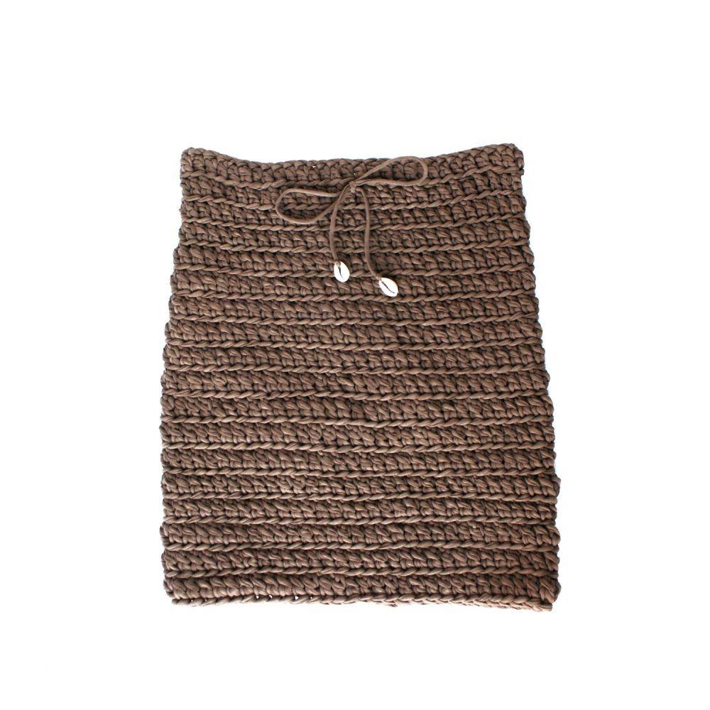 COWRIE | Brown Mini Skirt