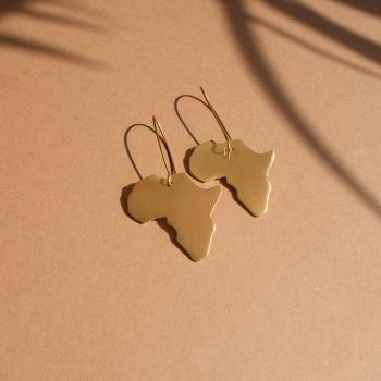 Gold Africa Earrings