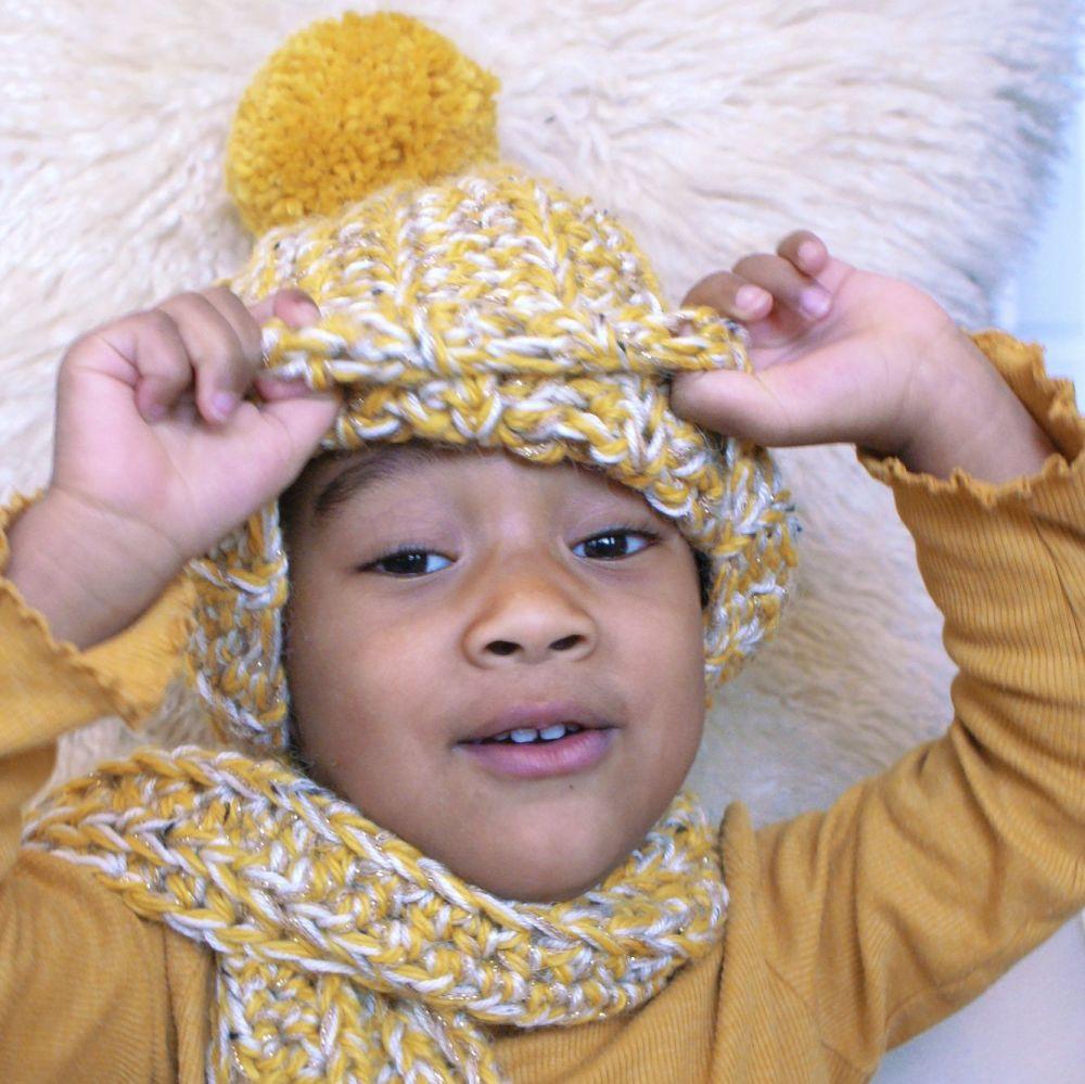 NOELLE Kids Crochet Beanie Hat