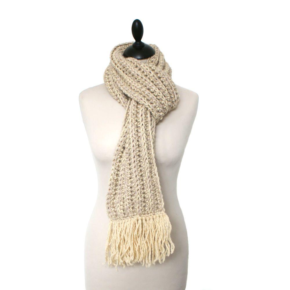 NOELLE Womens Crochet Scarf