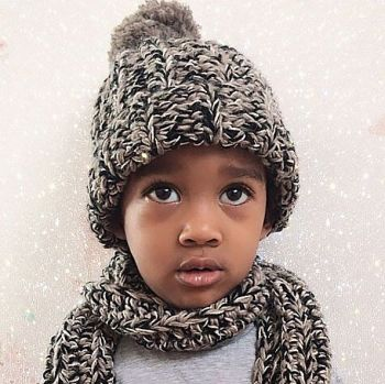 NOELLE Kids Hat & Scarf Set
