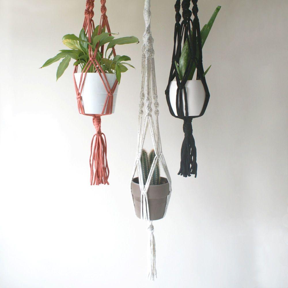 Spiral Macrame Plant Hangers