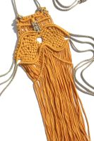 Yellow Macrame Top