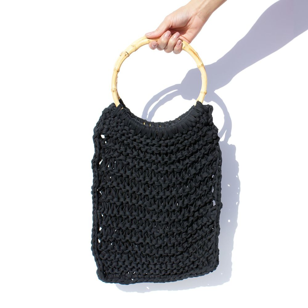 HARLOW | Black Knitted Bag