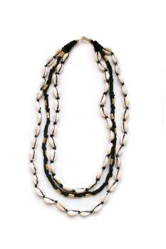 Cowrie Shell Necklace - Black
