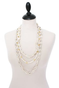 Cowrie Shell Necklace - Cream