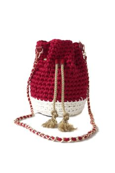 Treasure Bucket Bag - Red