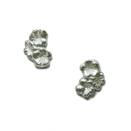 Silver Sakura Earstuds
