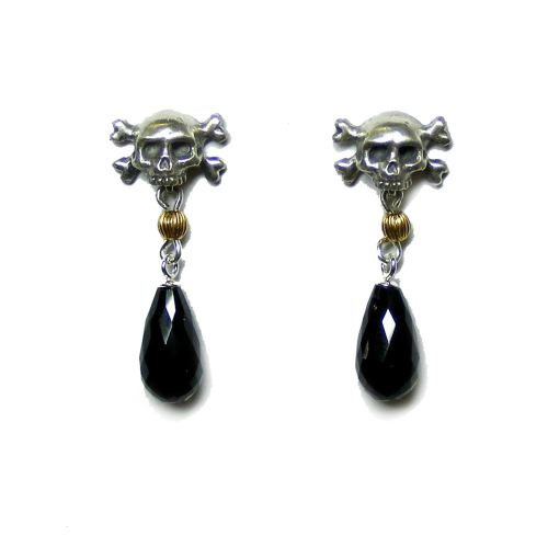 Pirate's Memento Mori Drop Earrings