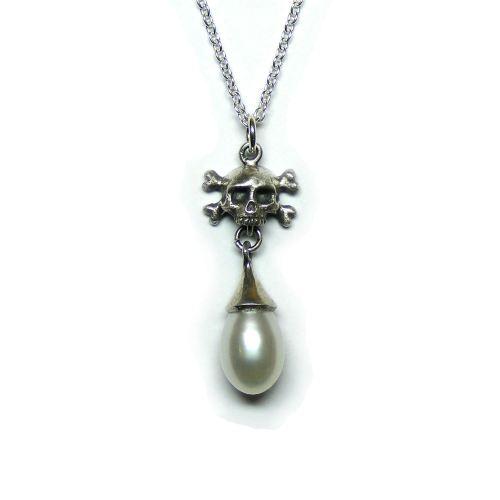 Pirate's Memento Mori Pearl Pendant