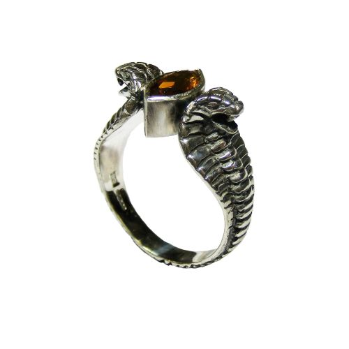 Cobra Ring with Gemstone