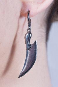 Nigella - Black Oxide Silver earrings