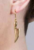 Jamie - gold vermeil silver earrings