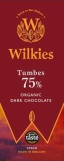Wilkies Tumbes 75% Organic Dark Chocolate
