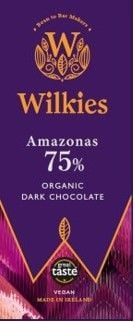 <!-- 003 --> Wilkies Amazonas 75% Organic Dark Chocolate
