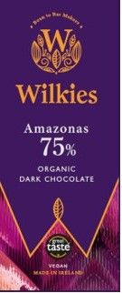 Wilkies Amazonas 75% Organic Dark Chocolate