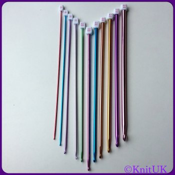 Tunisian Hooks 25.5cm Single Point hooks 2.0 - 8.0mm. Set of 11