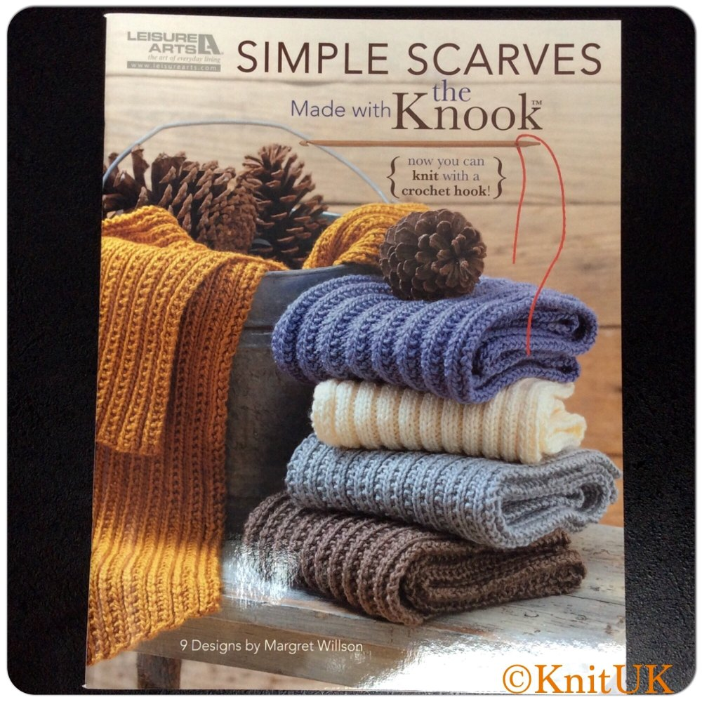 Simple Scarves. Made with th Knook. 9 Designs by Margaret Willson. 36 pages