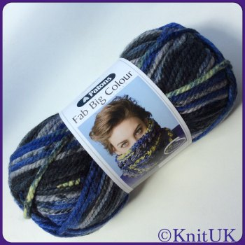 Patons Fab Big Colour. Super chunky yarn (200g)