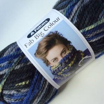 Patons Fab Big Colour. Super chunky yarn (200g). Choose colour.