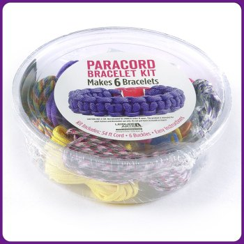 PARACORD - Girl Paracord Bracelet Kit. Leisure Arts