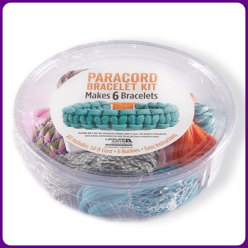 PARACORD - Bright Paracord Bracelet Kit. Leisure Arts