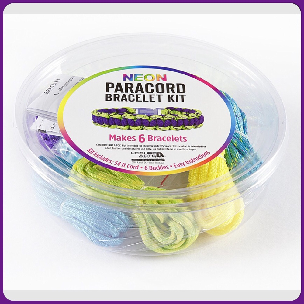 PARACORD - Neon Paracord Kit yellow. Leisure Arts