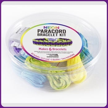 PARACORD - Neon Paracord Bracelet Kit YELLOW. Leisure Arts
