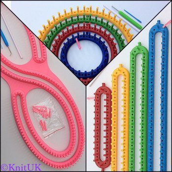 KnitUK Knitting Loom Jumbo Pack. S-Loom + Round Set + Long Set.