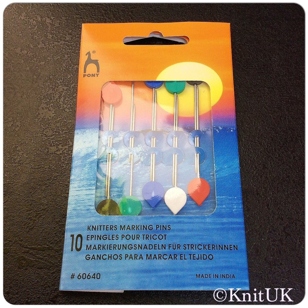 Knitters Marking Pins - Set of 10 pins. Pony