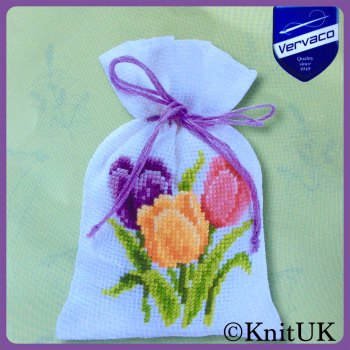 Cross Stitch Kit - Potpourri Bag: Crocuses (Vervaco)