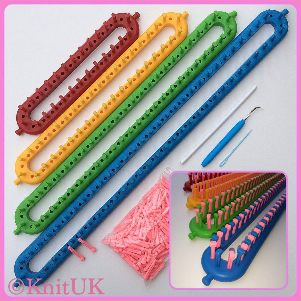 Knitting Loom Set : Long knitting loom knituk