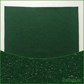 Acrylic Glitter Felt 23cm x 30cm. Holly (The Craft Factory).